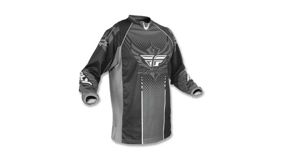 FLY RACING Patrol Maillot Noir Gris